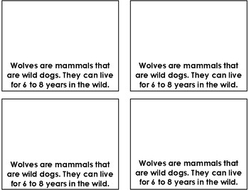 Wolves Mini-Book