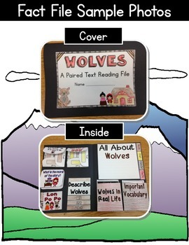 Wolves Paired Text Fact File or Lapbook Using Lon Po Po
