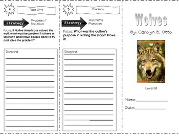 Wolves by Carolyn Otto ~ Trifold