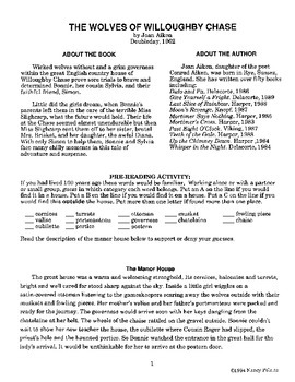 Wolves of Willoughby Chase Literature Guide