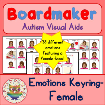 Woman / Adult Emotion / Feelings Cards - Boardmaker Visual Aids for Autism