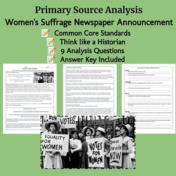 Woman Suffrage: Primary Source Analysis