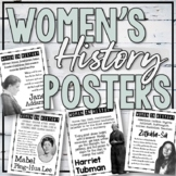 Women's History Poster Set and Task Cards (Set #2)