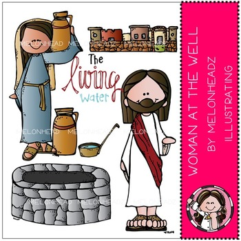 Woman at the well by Melonheadz COMBO PACK