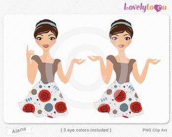 Woman character avatar 2 pack PNG clip art (Alana B19)