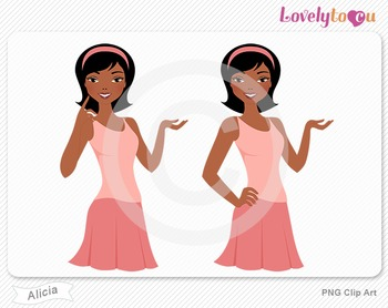 Woman character avatar 2 pack PNG clip art (Alicia B54)