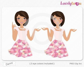 Woman character avatar 2 pack PNG clip art (Danni B26)