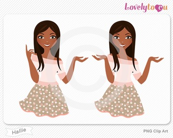 Woman character avatar 2 pack PNG clip art (Hallie B18)
