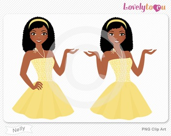 Woman character avatar 2 pack PNG clip art (Nelly B48)