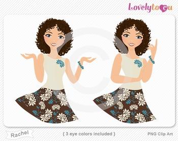 Woman character avatar 2 pack PNG clip art (Rachel B23)