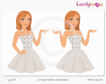 Woman character avatar 2 pack PNG clip art (Tracy B47)
