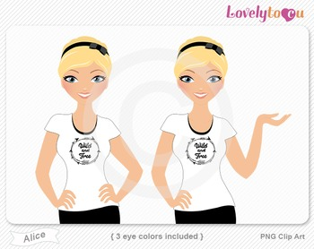 Woman character avatar 2 pack PNG clip art (Alice B42)