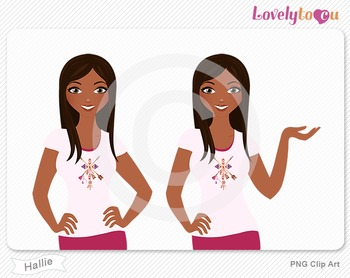 Woman character avatar 2 pack PNG clip art (Hallie B45)