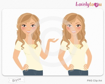 Woman character avatar pack PNG clip art (Bryce B30)