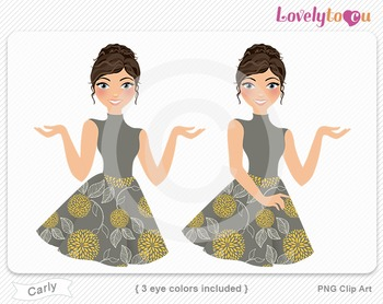 Woman character avatar pack PNG clip art (Carly B14)