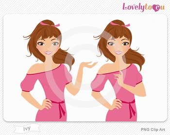 Woman character avatar pack PNG clip art (Ivy B27)