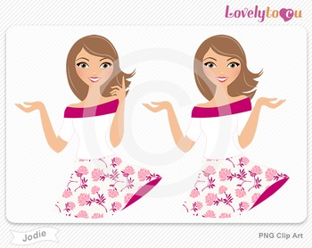 Woman character avatar pack PNG clip art (Jodie B17)