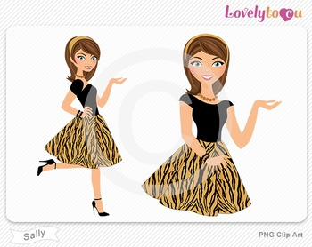 Woman character avatar pack PNG clip art (Sally B16)