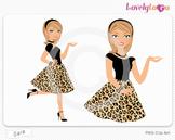 Woman character avatar pack PNG clip art (Sara B16)