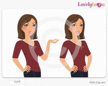 Woman character avatar pack PNG clip art (Tina B11)