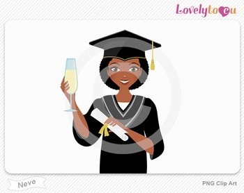 Woman graduate with diploma PNG clip art (Neve 588)