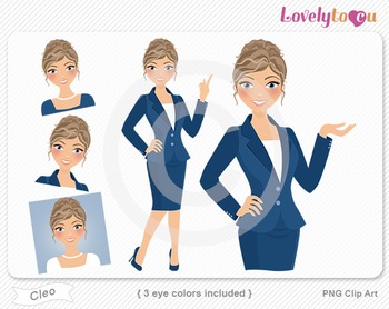 Woman graphics character pack set PNG clip art (Cleo R09)