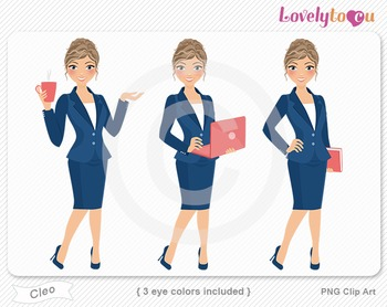 Woman graphics character pack set PNG clip art (Cleo R10)