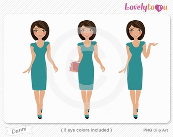 Woman graphics character pack set PNG clip art (Danni R08)