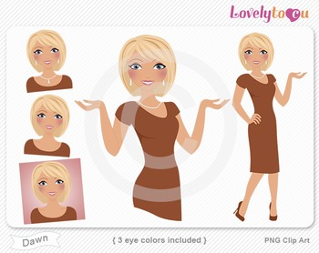 Woman graphics character pack set PNG clip art (Dawn R07)