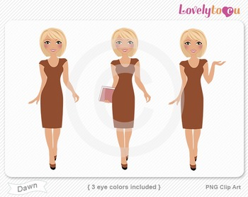 Woman graphics character pack set PNG clip art (Dawn R08)