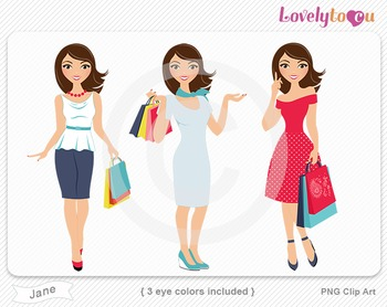 Woman graphics character pack set PNG clip art (Jane R06)