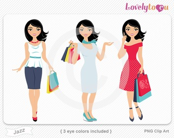 Woman graphics character pack set PNG clip art (Jazz R06)