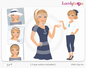 Woman graphics character pack set PNG clip art (Sara R03)