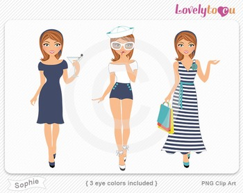 Woman graphics character pack set PNG clip art (Sophie R04)