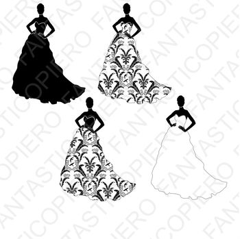 Woman in dress SVG and PNG transparent files.