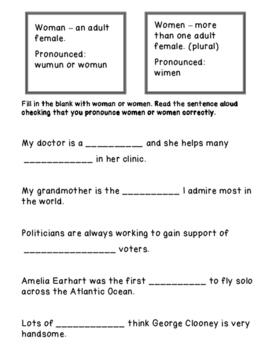 Woman or Women?