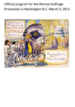 Woman suffrage parade of 1913 Word Search