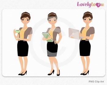 Woman teacher graphics character set PNG clip art (Alana R02)