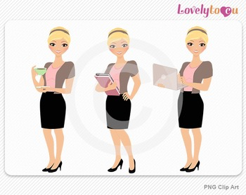 Woman teacher graphics character set PNG clip art (Alice R02)