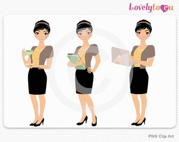 Woman teacher graphics character set PNG clip art (Aly R02)