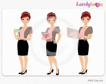 Woman teacher graphics character set PNG clip art (Aurora R02)