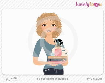 Woman teacher of art and art history PNG clip art (Ronnie 606)
