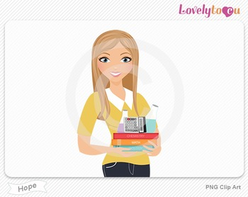 Woman teacher of math and science PNG clip art (Hope 598)