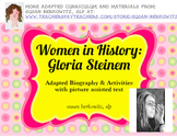 Woman's History Month Adapted Biography Gloria Steinem spe