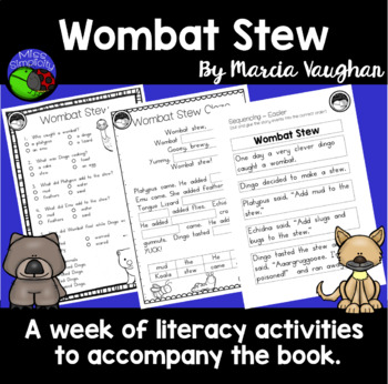 Wombat Stew ~ A week of reading activities