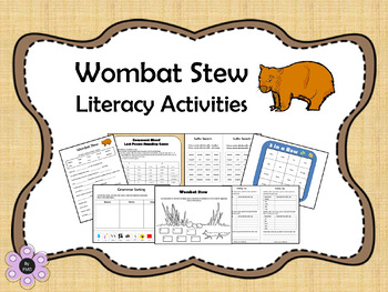 Wombat Stew Literacy Activities