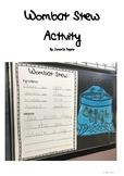 Wombat Stew Recipe - Writing a Recipe Activity