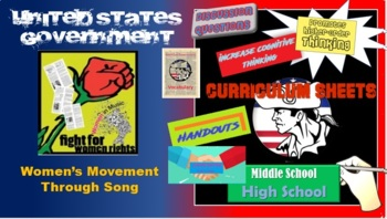 AP Government - Civil Rights Lesson Through Time and Song (Women's movement)