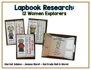 Women Explorers Reports - 12 Lapbooks Research & Informational Writing