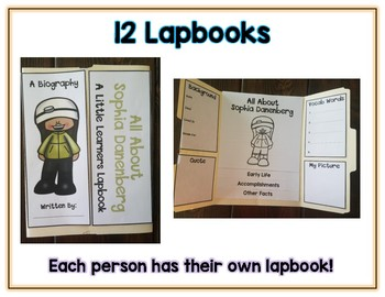 Women Explorers Reports - 12 Lapbooks Research & Informational Writing